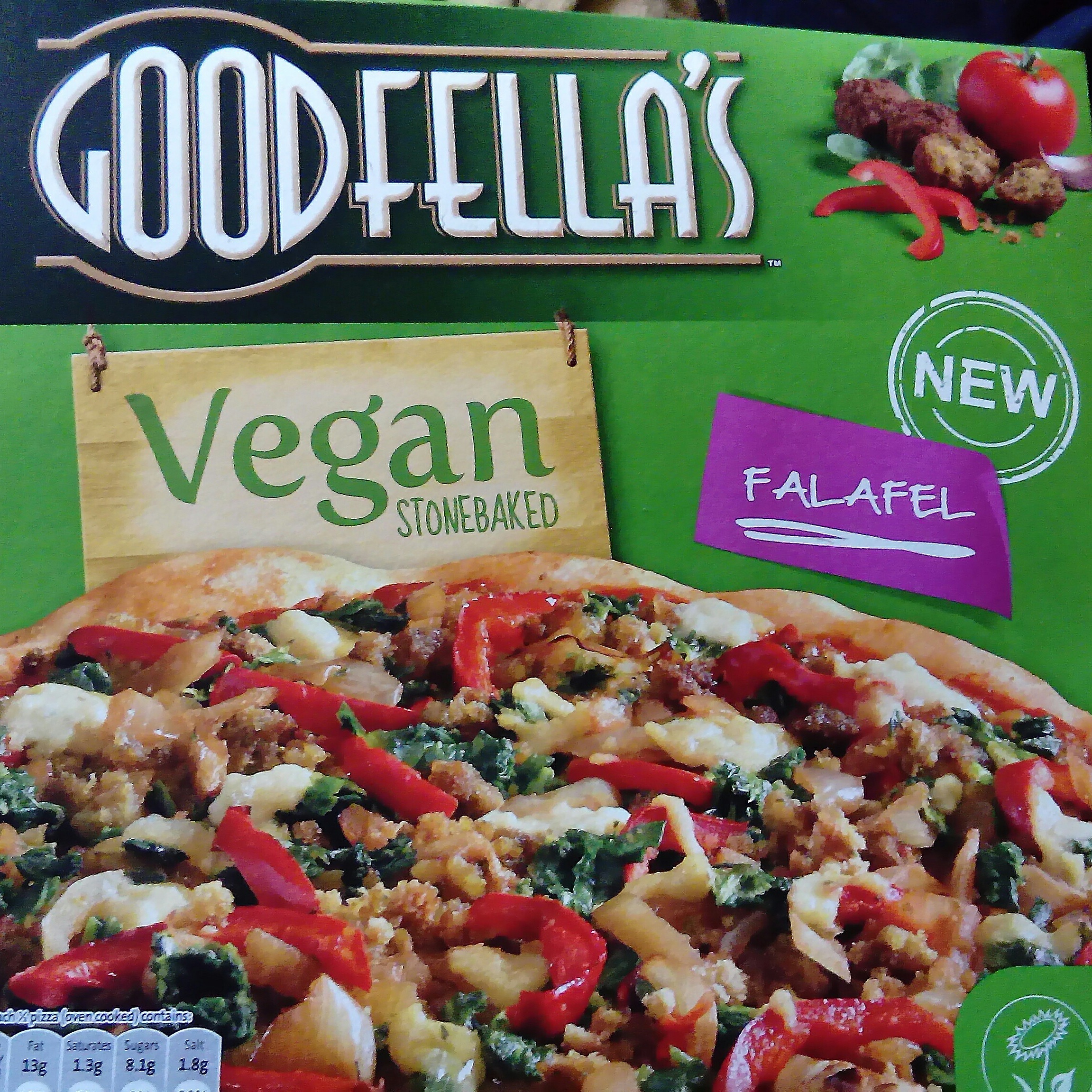 Review Goodfellas Vegan Stonebaked Falafel Pizza Vegan
