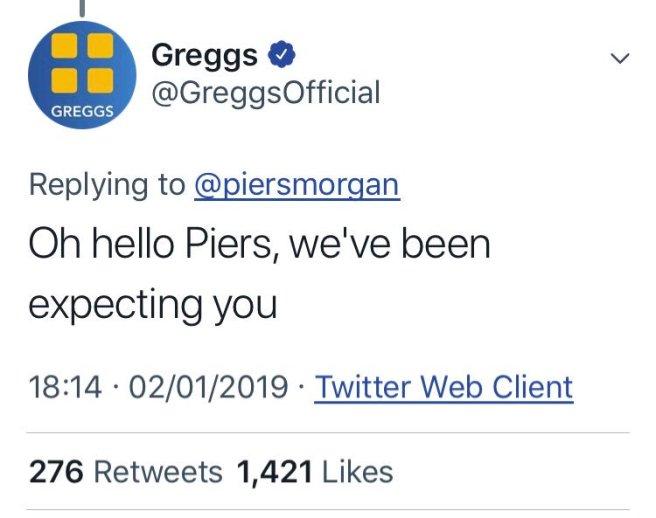 greggs tweet