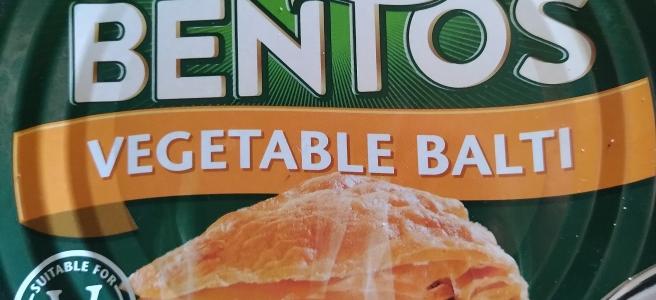 Fray Bento Vegetable Balti Pie in a tin