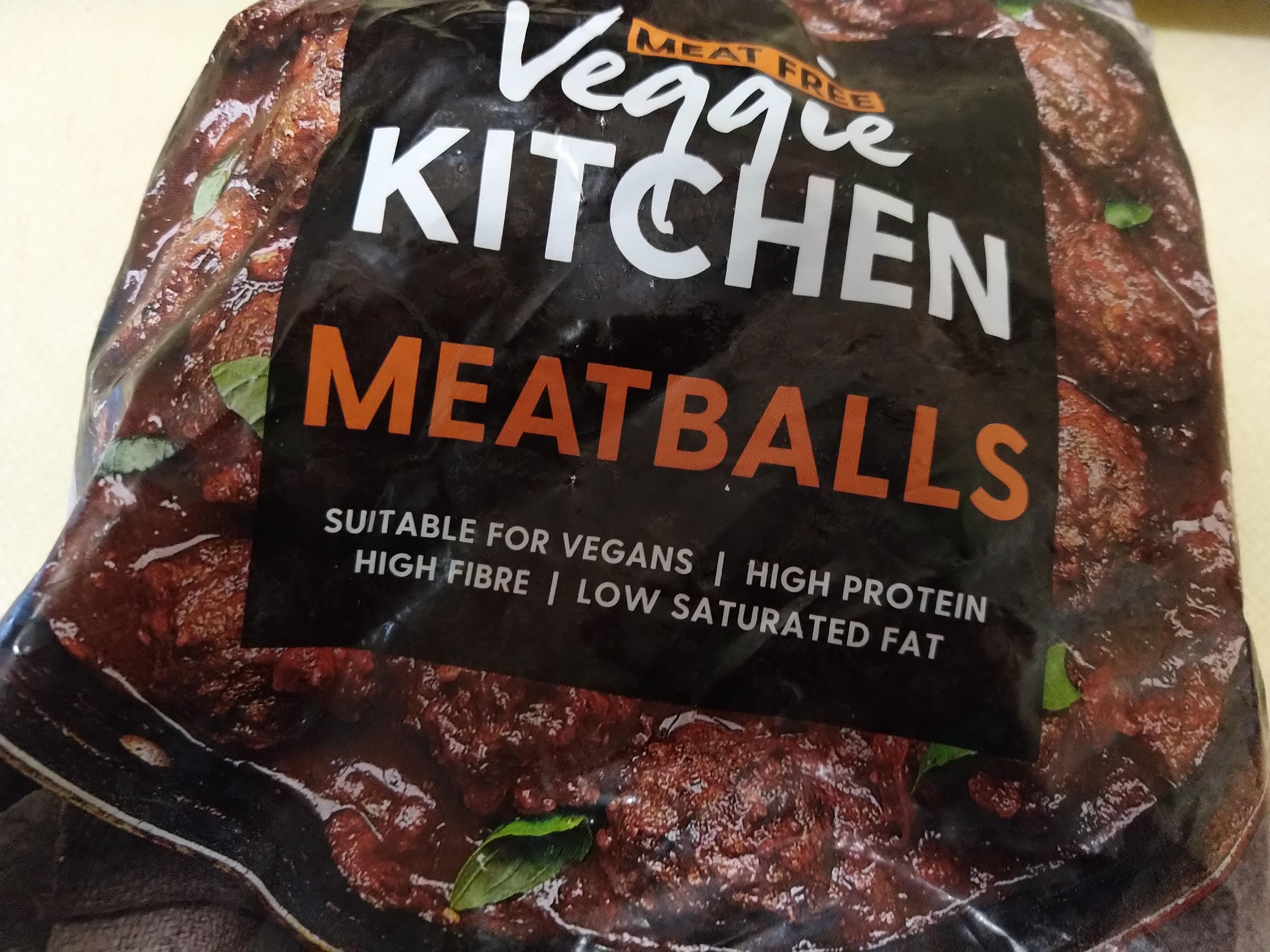 Iceland vegan Meatballs packaging
