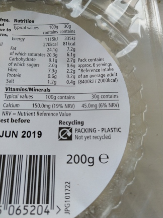 Tesco vegan cheese recycling information